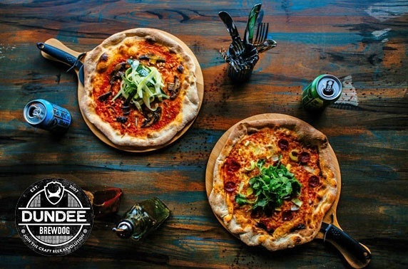 BrewDog Dundee pizzas & drinks
