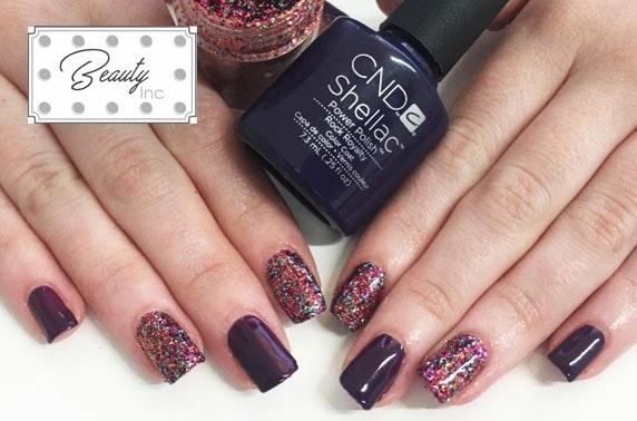 Beauty Inc Shellac manicure or pedicure
