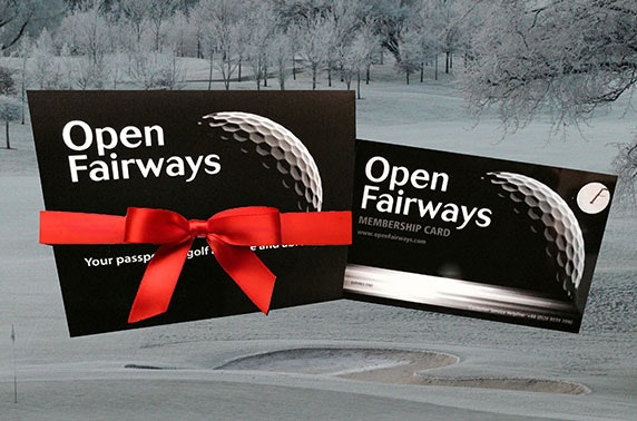 Open Fairways golf membership - save as you play