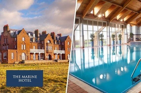 4* Marine Hotel DBB stay or spa break, Troon