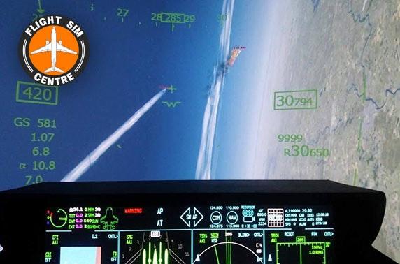 Flight simulator experience at Flight Sim Centre