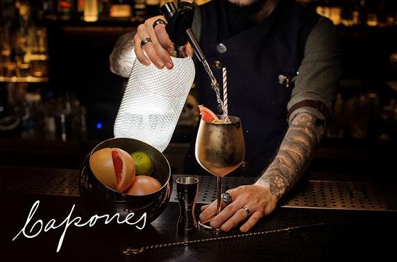 Capone's speakeasy food & drinks voucher
