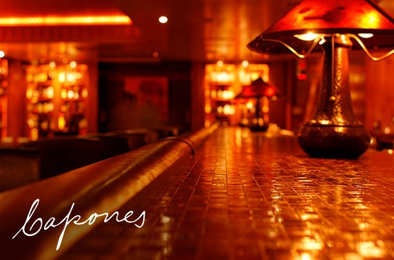 Capone's speakeasy food & drinks voucher