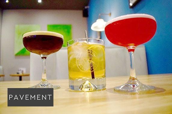 Cocktails & nibbles at Pavement, Merchant City