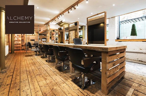 Blow dry, treatment & optional cut and colour, Alchemy