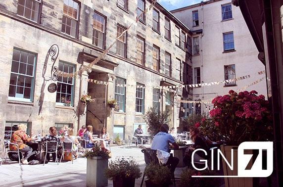 Gin 71 festive flights, macarons & mince pies