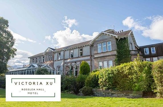 Stunning Rosslea Hall Hotel DBB, near Loch Lomond