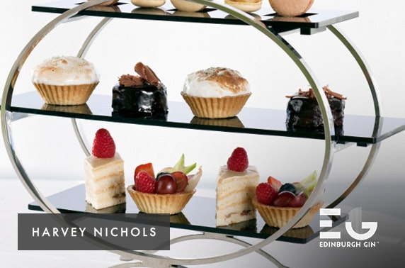 Harvey Nichols luxury Edinburgh Gin afternoon tea