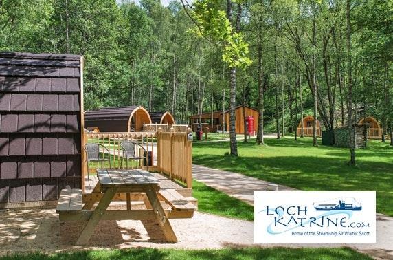 Loch Katrine lodge stay & cruise