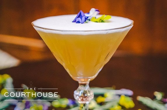 Cocktails & dining at award-winning The Courthouse, Cheshire