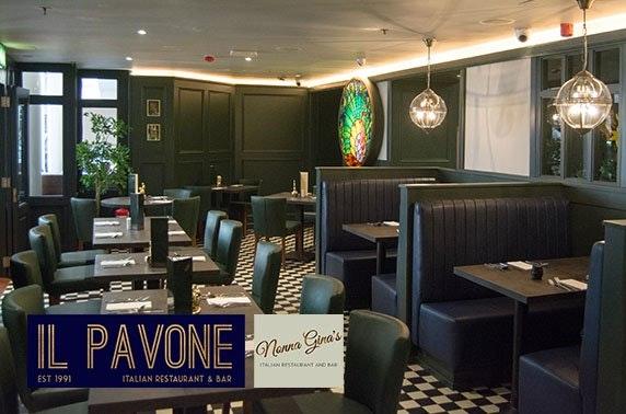 Il Pavone or Nonna Gina's Italian dining and Prosecco