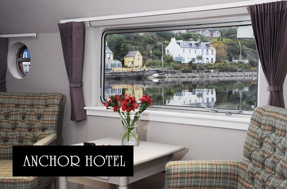 Luxury barge stay at the Anchor Hotel and Barge, Tarbert