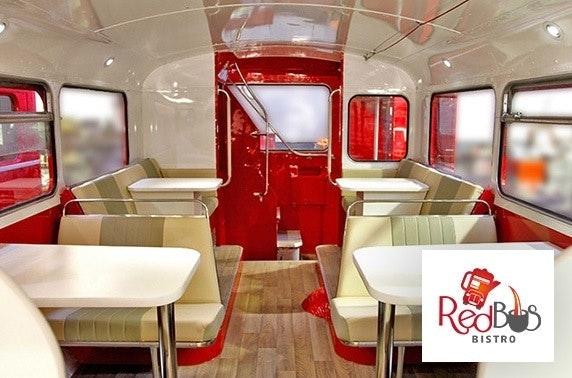 Red Bus Bistro Edinburgh Prosecco afternoon tea & tour