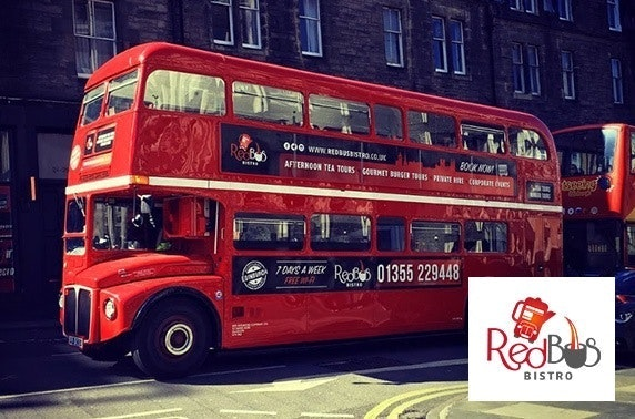 Edinburgh Red Bus Bistro Prosecco afternoon tea tour