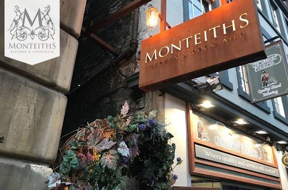 Monteiths steak & wine