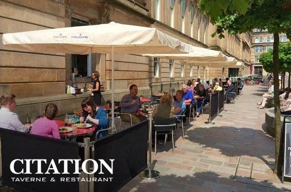 Citation sharing platter & wine, Merchant City