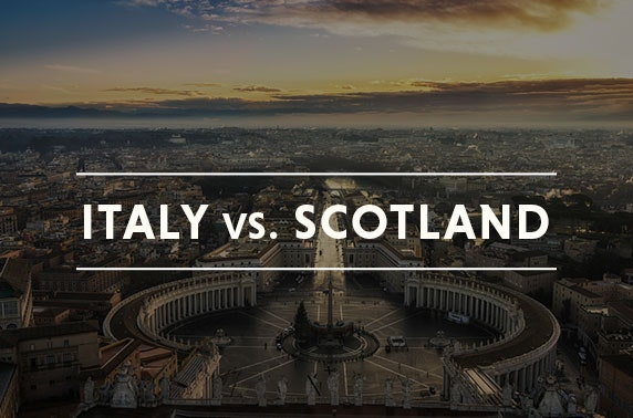Italy vs Scotland rugby in Rome inc flights & hotel