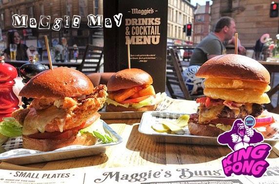 Ping pong, burgers & beer at Maggie Mays, Merchant City