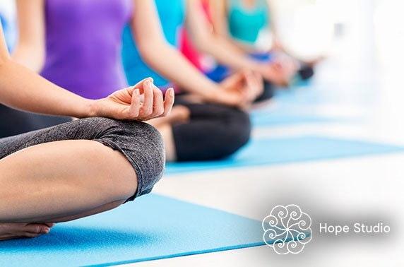 Hope Studio yoga classes - from £3 per class