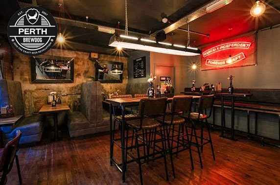 Recently-opened BrewDog Perth pizza & wine or beers