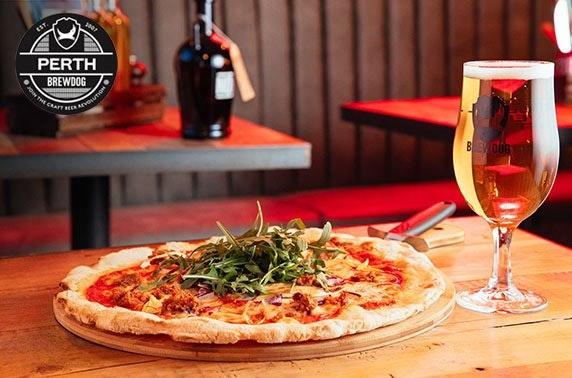 BrewDog Perth pizza & wine or beers