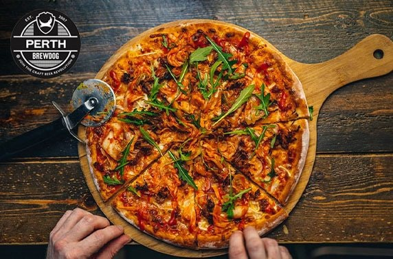 BrewDog Perth pizza & wine or beers
