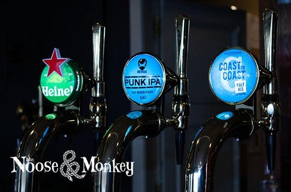 Noose & Monkey voucher spend & drinks