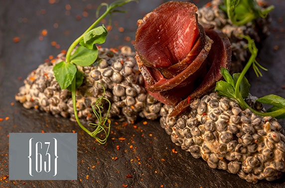 Michelin-recommended 63 Degrees tasting menu