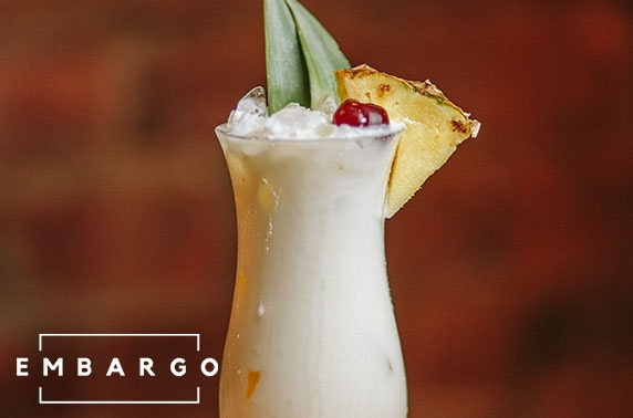 Embargo cocktail masterclass & food