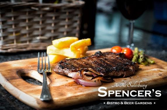 Steak & wine at Spencer's Bistro, Newington