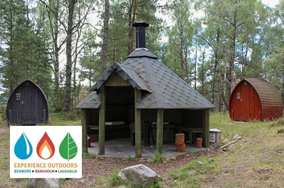 Camping pod stay, Cairngorms National Park