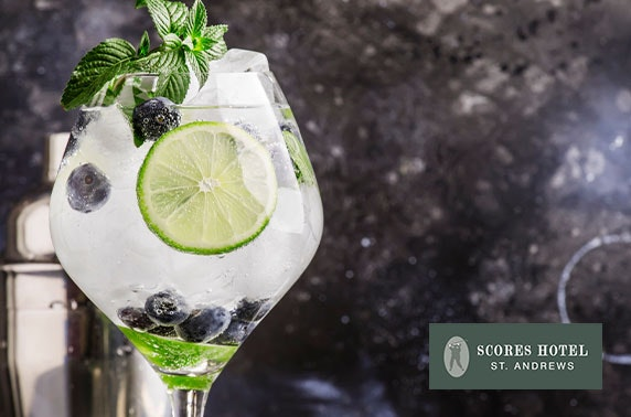 Eden Mill G&Ts & nibbles at Scores Hotel, St Andrews