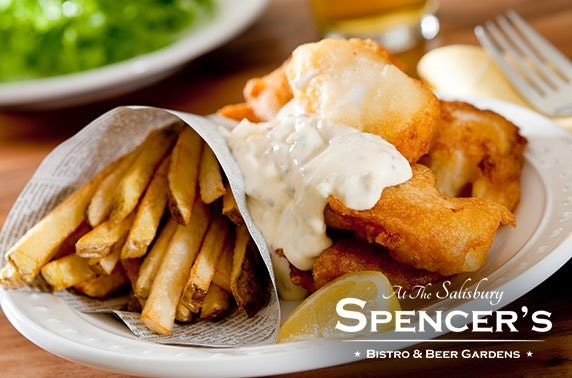 Fish & chips at Spencer's Bistro, Newington