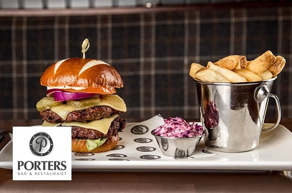 Porters burgers – from £4.50pp
