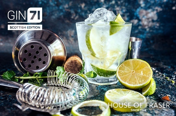 Cream or afternoon tea at Gin71 Scottish Edition, House of Fraser