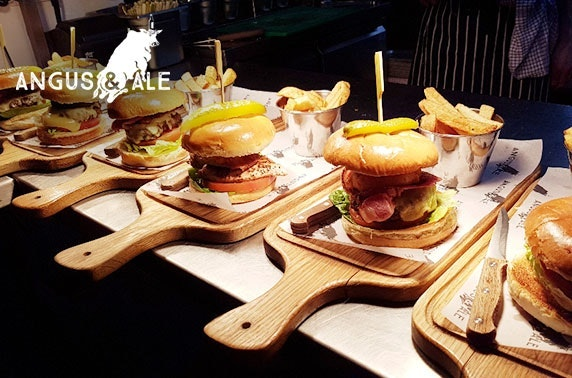 Angus & Ale burgers - £6pp