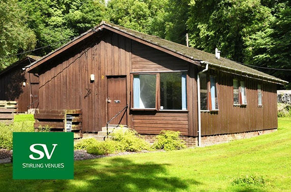 Stirling group chalet getaway – from under £9pppn