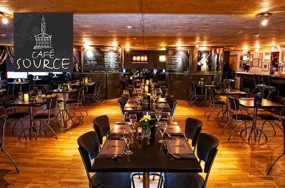Café Source dining, Merchant City