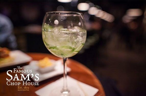 Gin tasting & sharing platters at Sam's Chop House