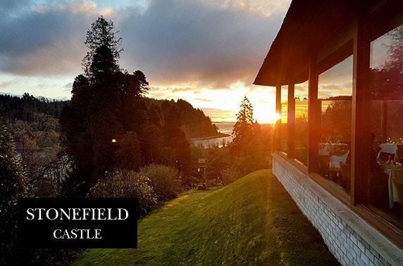 AA Rosette-awarded afternoon tea, 4* Stonefield Castle