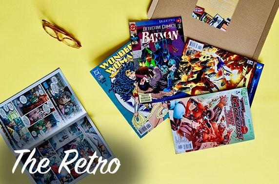 The Retro vinyl or comics subscription box