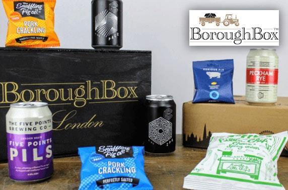 Beer & gourmet snacks box from Boroughbox