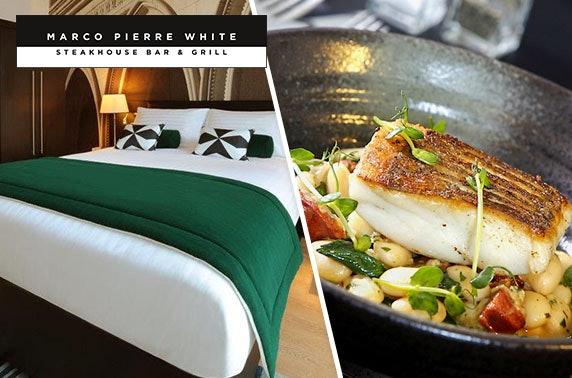 Marco Pierre White dinner & overnight