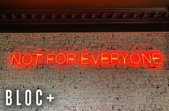 Brand new Bloc Pop Up dining & drinks, Finnieston