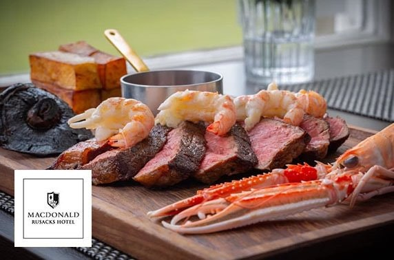 Brand new St Andrews Surf & Turf, 4* Macdonald Rusacks Hotel