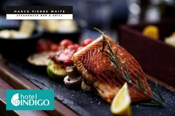 Marco Pierre White dining, 4* Hotel Indigo