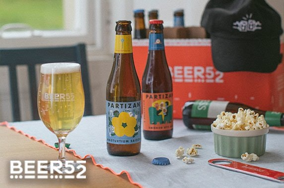 Beer discovery box from Beer52