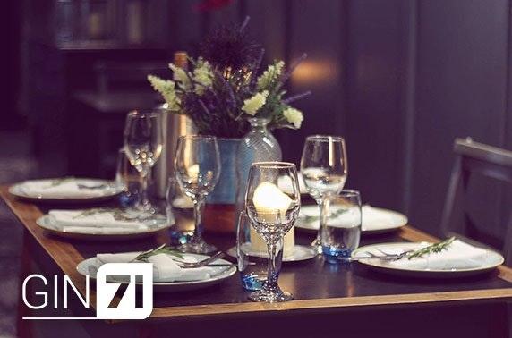Gin71 Merchant City, 7 course dining