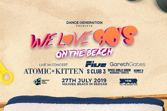 We Love 90's On the Beach, Redcar
