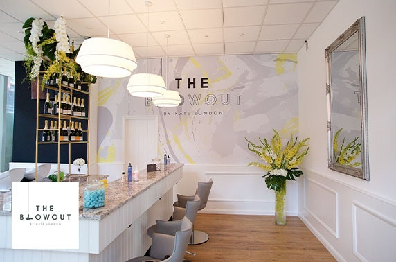 Champagne blow dry at The Blowout by Kate London, Spinningfields